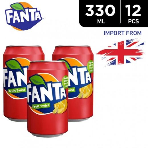 Fanta Fruit Twist Drink Can 12 x 330 ml