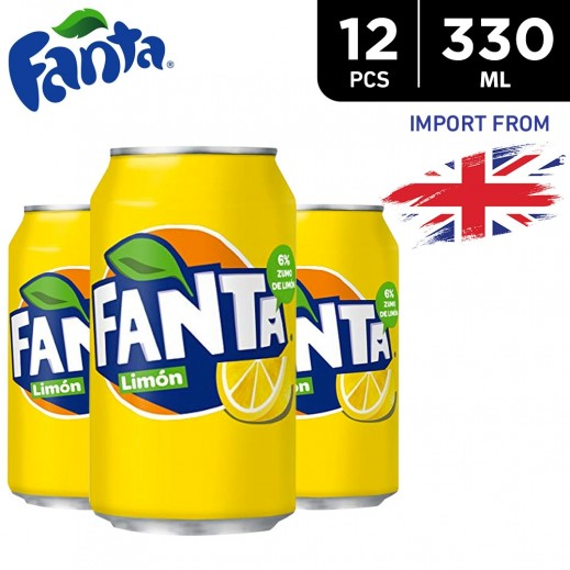 Fanta Icy Lemon Drink Can 12 x 330 ml