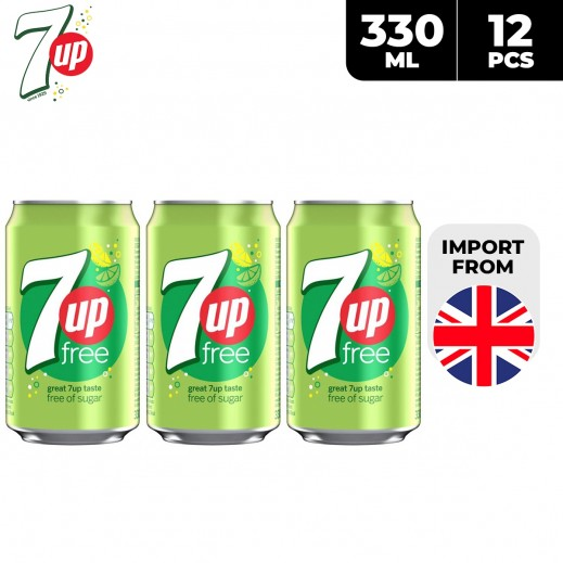 7Up Free Drink Can 12 x 330 ml