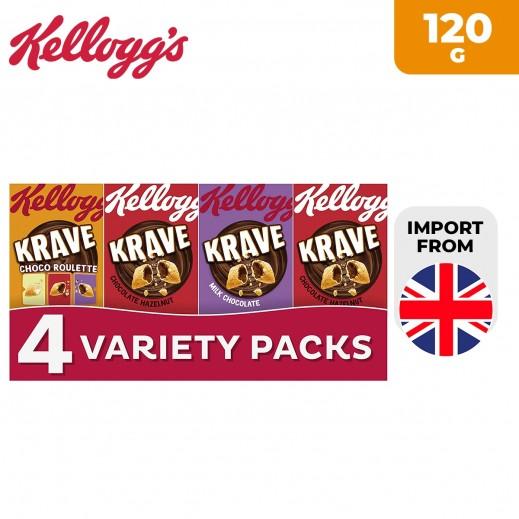 Kellogg's Krave Variety Packs Cereal 120 g