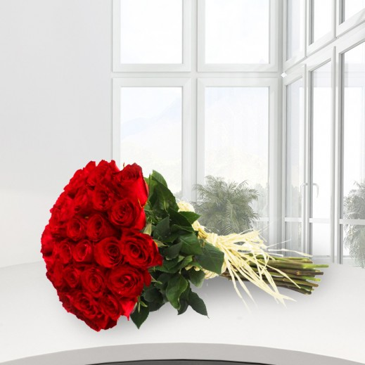 25 Red Roses Bouquet - delivered by A&K FLOWERS