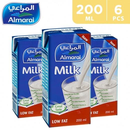 Almarai UHT Milk Added Vitamins Low Fat 200 ml (5 + 1 Free)