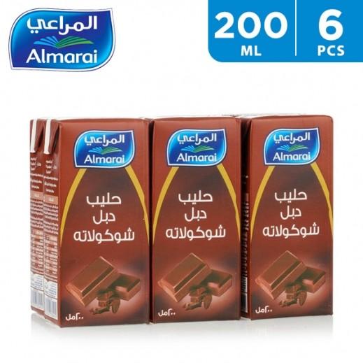 Almarai UHT Milk Double Chocolate 200 ml (5 + 1 Free)