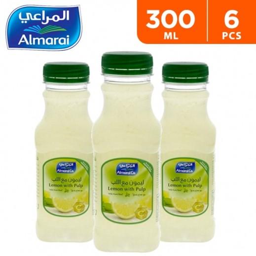 Almarai Lemon With Pulp Juice 6 x 300 ml