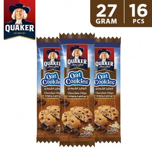 Quaker Oat Cookies Chocolate 16 x 27 g