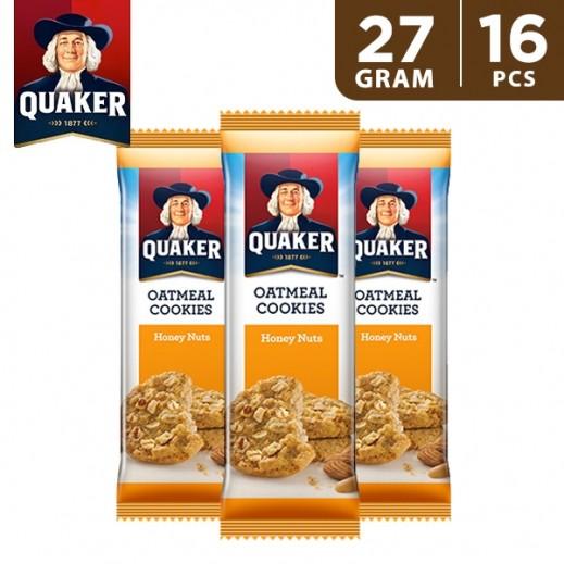 Quaker Oat Cookies Honey & Nuts 16 x 27 g
