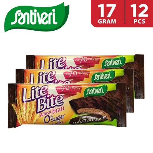 Santiveri Lite Bite Dark Chocolate Sugar Free 12 x 17 g