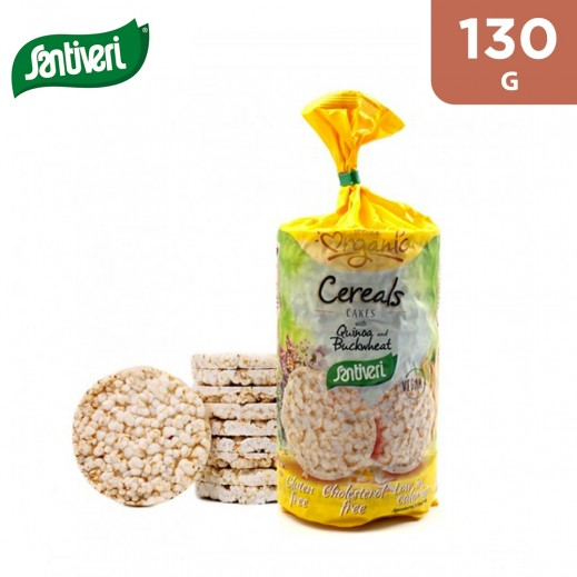 Santiveri Organic & Gluten Free Cereal Quinoa and Buckwheat Cakes 130 g