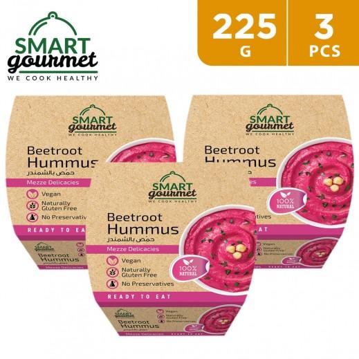 Smart Gourmet Gluten Free Natural Beetroot Hummus 3 x 225 g