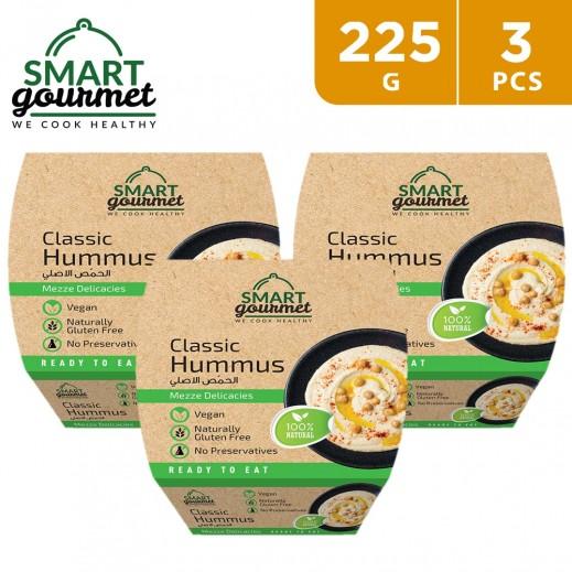 Smart Gourmet Gluten Free Natural Classic Hummus 3 x 225 g
