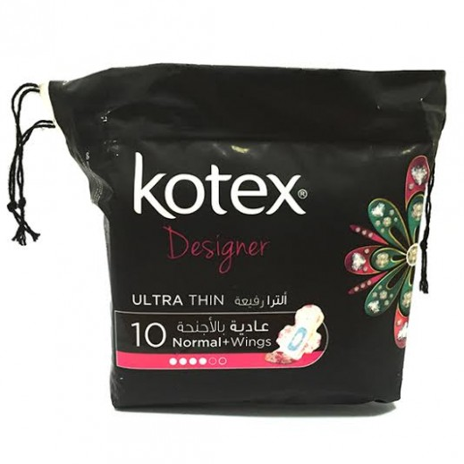 Kotex Designer Ultra thin Normal Wings 10 Pads
