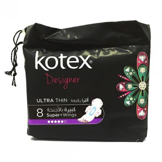 Kotex Designer Ultra Thin Pads Super With Wings(16X 8's)