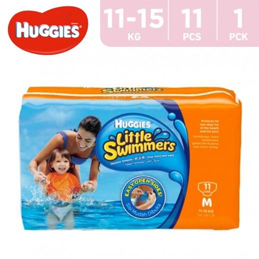 Huggies Little Swimmers Disposable Swimpants 11 - 15 kg Medium 11 Pieces