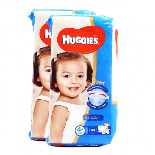 Huggies Comfy Fit Diapers Size 4+ (9 - 20 kg) X-Large 2 x 44 Pieces Prom