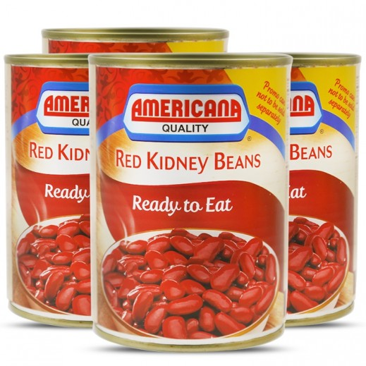 Americana Red Kidney Beans 400 g (3+1 Free)