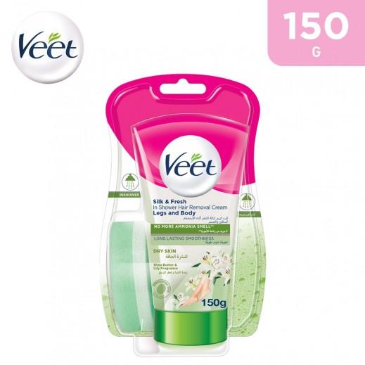 Veet Dry Skin Silk & Fresh In Shower Hair Removal Cream Body & Legs -150 g