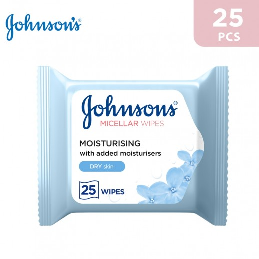 Johnson's Moisturizing Dry Skin Wipes 25 Wipes