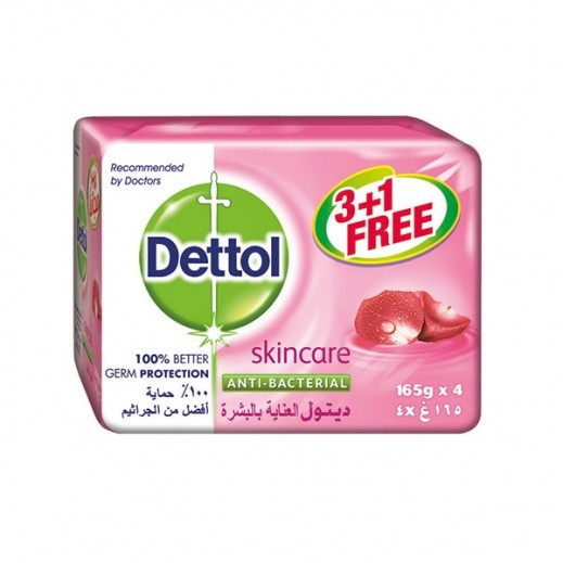 Dettol Skincare Anti Bacterial Soap 120 g 3 + 1 Free
