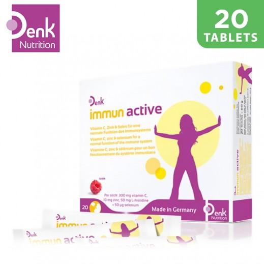 Denk Immun Active With Vitamin C,Zinc & Selenium For Normal Immune System 20 Capsules