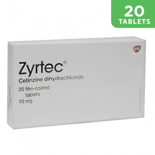 Zyrtec Allergy Tablets 10 mg 20 Tablets