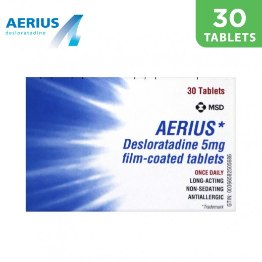 Aerius 5mg Antiallergic 30 Tablets