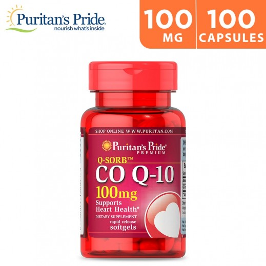 Puritan's Pride Q10 30mg Support Heart Health Dietary Supplement 100 Soft Gels