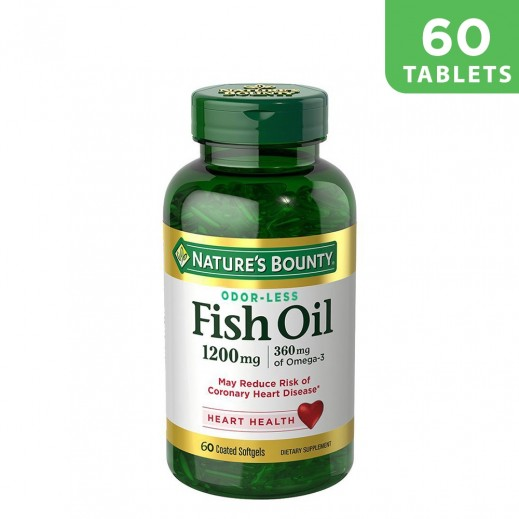 Nature's Bounty Fish Oil 1200mg 60 Soft Gels