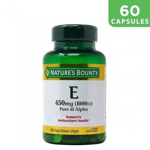 Nature's Bounty Vitamin E 450mg 60 Capsules