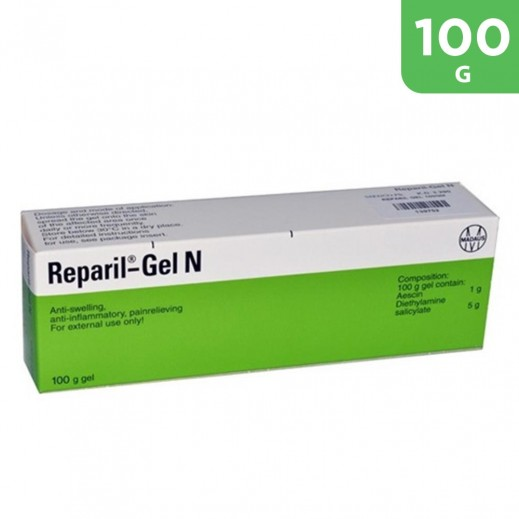 Reparil Gel N For Anti Swelling ,Anti Inflammatory,Pain Relieveing Gel 100 g