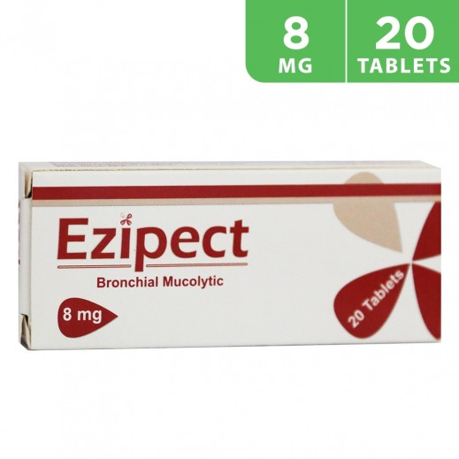 Ezipect 8mg Cough,Cold & Flu 20 Tablets