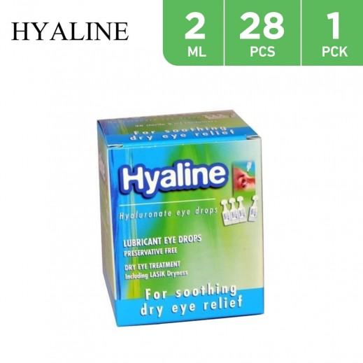 Hyaline Hyaluronate Lubricant Eye Drops 2 ml 28 Pieces