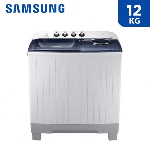 Samsung 12 kg Twin Tub Washing Machine - White  - delivered by AL ANDALUS After 3 Working Days