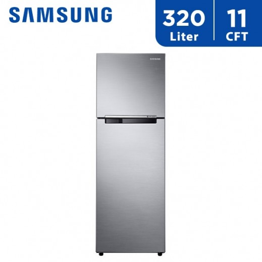 Samsung 11 Cft 320 L Double Door Refrigerator - Silver  - delivered by AL ANDALUS Within 3 working days