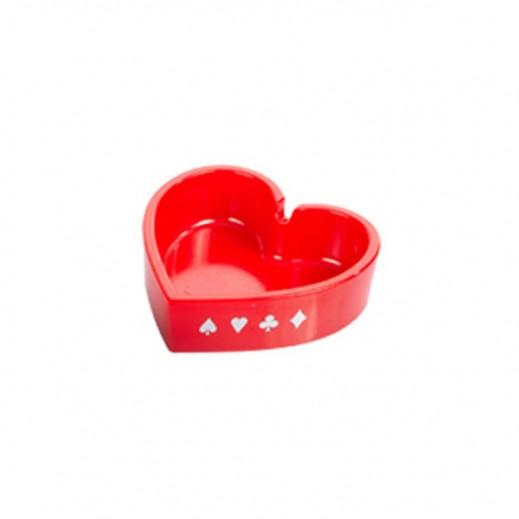 Anya Poker Ashtray Hearts Design