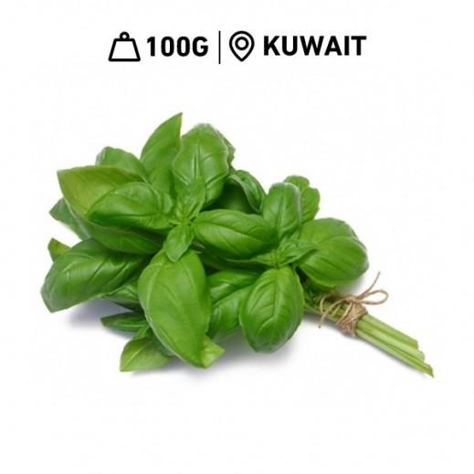 Fresh Kuwaiti Basil Leaves (100 g Approx.)