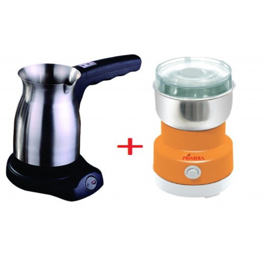 Primera Turkish Coffee Maker + Primera Coffee Grinder