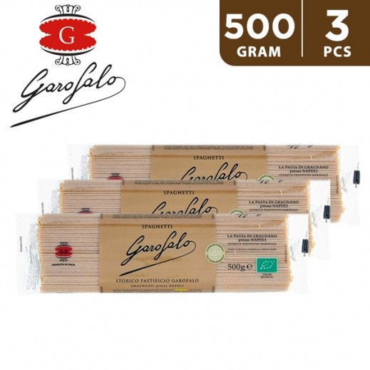 Garofalo Sphagetti Integrali Organic Whole Wheat Pasta 3 x 500 g