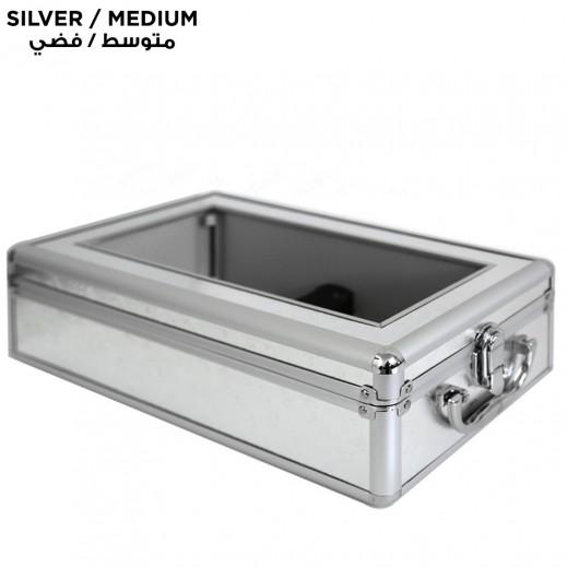 Shoe Cover Dispenser Silver Medium