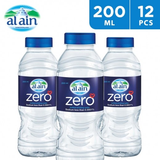 Al Ain Zero Sodium Water 12 x 200 ml
