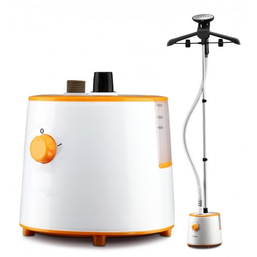 Primera 1800 W Garment Steamer- White & Orange