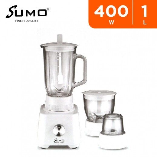 Sumo 400W 3 in 1 Blender 1L with Grinder and Chopper – White