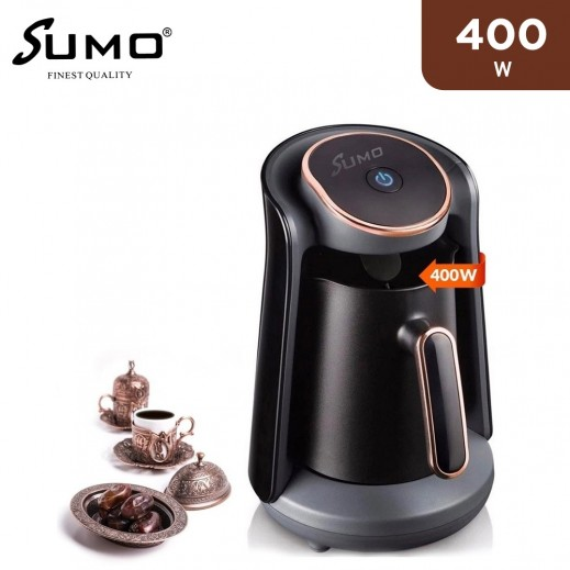 Sumo 400W Turkish Coffee Machine Maker 4 Cups -Black