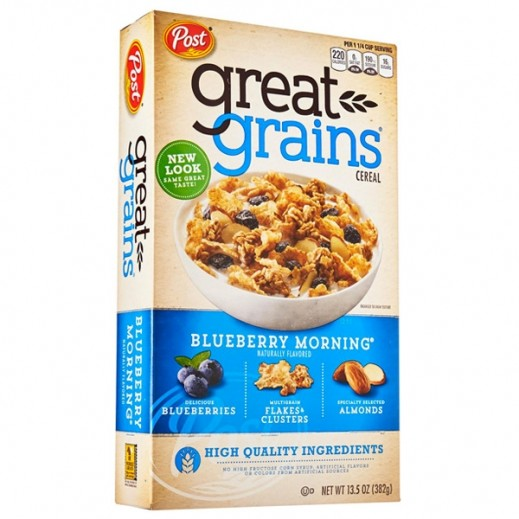 Post Cereals Great Grains Blueberry Morning 382 g