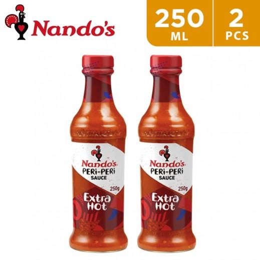 Nando's Peri Peri Sauce Extra Hot 2 x 250 ml