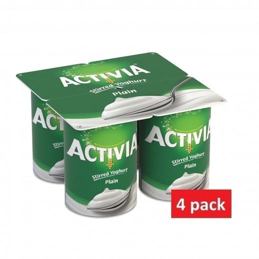 Activia Stirred Plain Youghurt 4 x 125 g