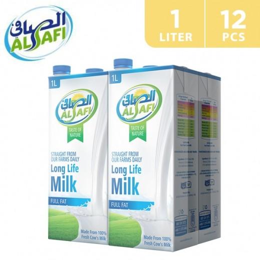 Al-Safi Full Fat Long Life Milk 12 x 1 L