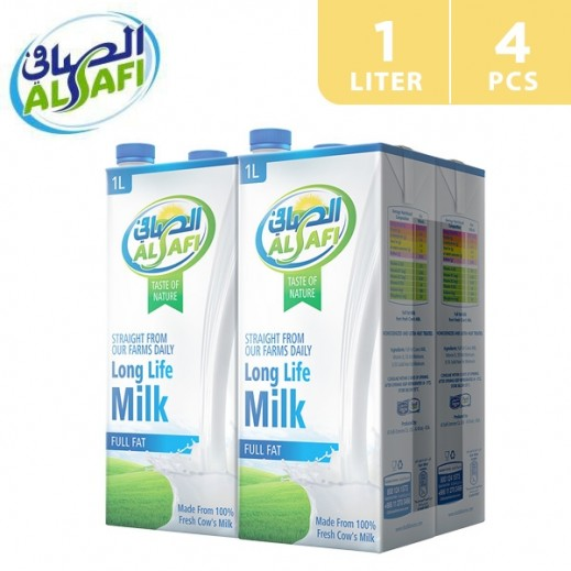 Al-Safi Full Fat Long Life Milk 4 x 1 L