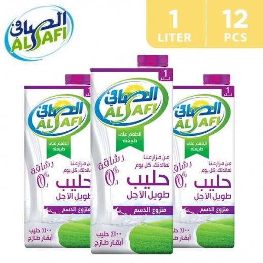 Al-Safi Skimmed Long Life Milk 12 x 1 L
