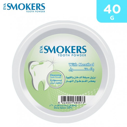 Eva Smokers With Menthol Tooth Powder 40 g
