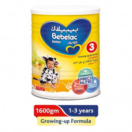Bebelac Growing Up Milk Junior Stage 3 1600 g (From 1-2 Years)